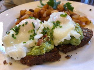 Two Poached Eggs on Avocado Toast